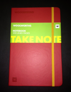 Red Wooloworths Notebook