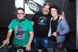 DJ Soosh, Garron Gsell from Movember South Africa and DJ Dean Fuel copy