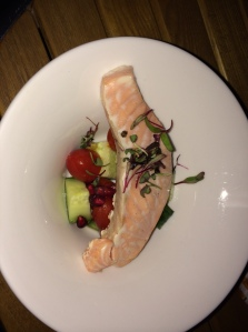 Starter - Salmon with chopped salad